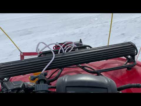 Homemade ATV Snow Plow from Scrap Plowing Snow 2019