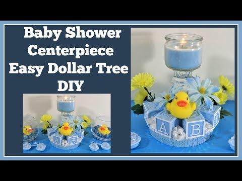 Baby Shower Centerpiece 🍼 Dollar Tree DIY
