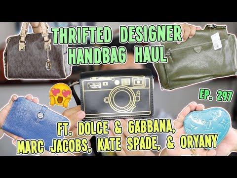 THRIFTED DESIGNER HANDBAG HAUL - FT. DOLCE, MARC JACOBS,  KATE SPADE, & ORYANY    EP. 297