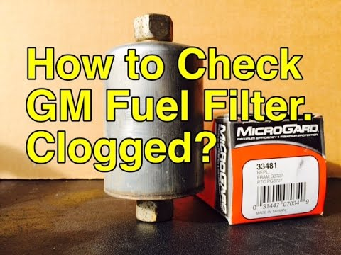 Signs you need to change your Fuel Filter - How to tell Fuel Filter is Bad - Bundys Garage