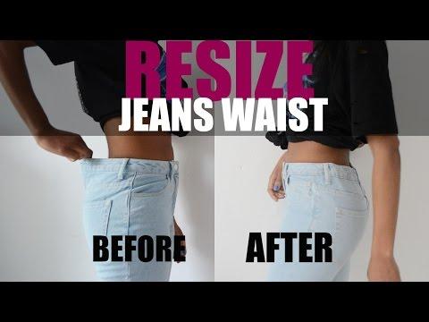 DIY LIFE HACK | HOW TO RESIZE JEANS WAIST (Elastic Method)
