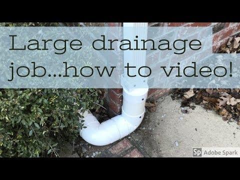 Surface Drainage - Gutter downspout Drainage Part 1