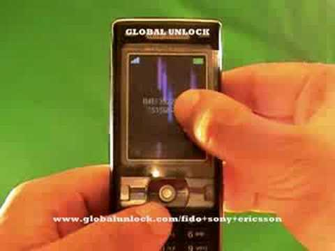 How To Unlock Fido Sony Ericsson by Code - globalunlock.com