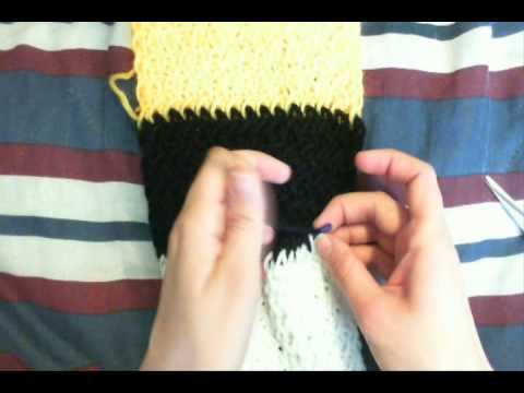 How to Finish/ Cast Off a Knit Loom Scarf