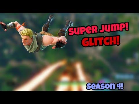 FORTNITE SEASON 4 GLITCHES *NEW* SUPERJUMP IN SEASON 4 PS4/XBOX ONE 2018