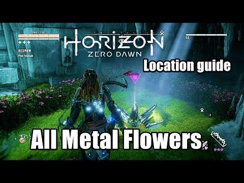Horizon Zero Dawn All Metal Flowers Locations Guide - All Metal Flowers found Unlock Trophy