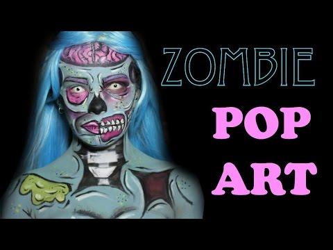 ZOMBIE POP ART TUTORIAL || Adorethegore
