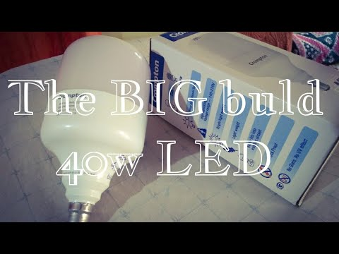 Unboxing big 40w led bulb | crompton 40w led bulb