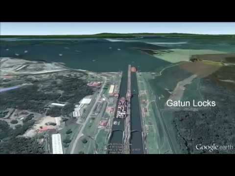 Panama Canal Transit Flyover with Google Earth