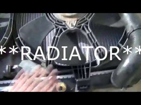 2002 Nissan Maxima: How to replace the radiator and coolant reservoir