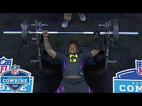 Shaquem Griffin's Bench Press with Prosthetic Hand | 2018 NFL Combine Highlights