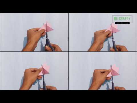 paper craft - GENIUS idea for paper flower | art and craft | be crafty