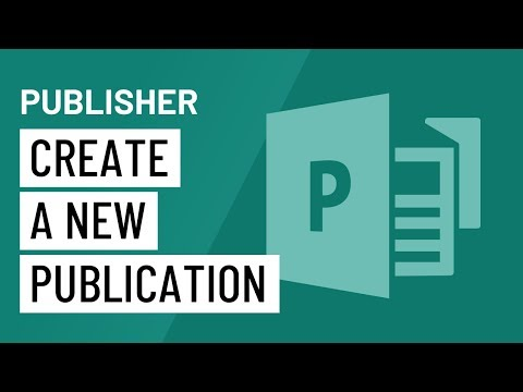 Publisher 2010: Creating a New Publication