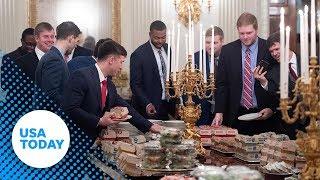 Clemson Tigers visit President Trump at the White House as National Champions