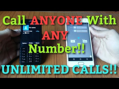How To Call ANYONE With ANY Number!! FREE UNLIMITED CALLS!! {No Root}