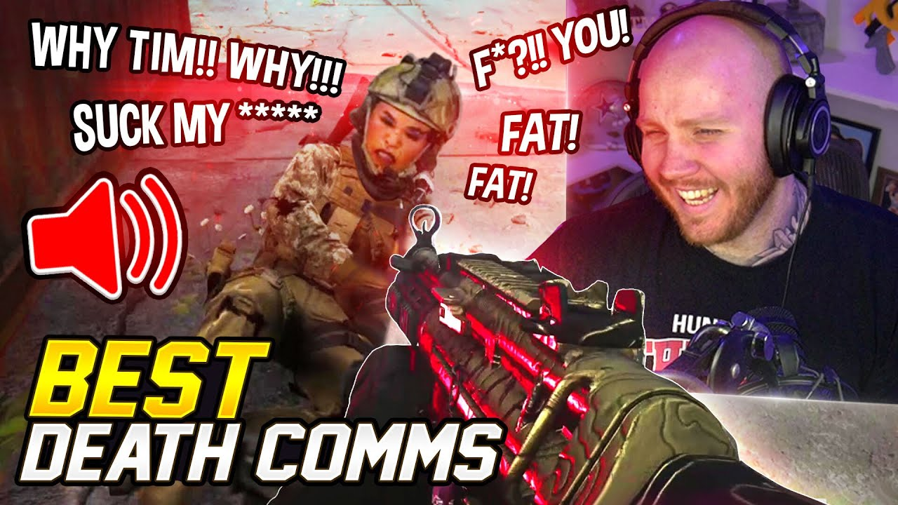 WARZONE DEATH COMM COMPILATION! (RAGE/FUNNIEST MOMENTS)