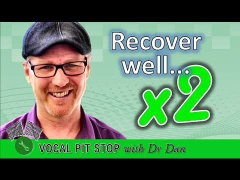 How to RECOVER SINGING VOICE after a cold | The x2 Rule | #DrDan