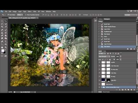 How to use Photoshop's zig zag and ripple tool to create water movement in fake pond