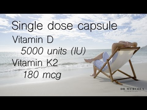 Dr. Mercola's New Vitamin D Supplement Enhanced with Vitamin K2