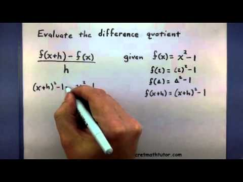 Pre-Calculus - Evaluate the difference quotient