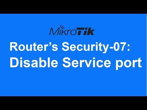 MikroTik Router's Security-07: Service port disable