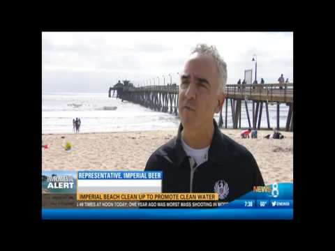 CBS 8 News Features Imperial Beach Clean Up Event On CW6