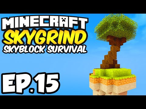 Minecraft: Skygrind Skyblock Survival Ep.15 - NETHER PORTAL! (Minecraft 1.8)
