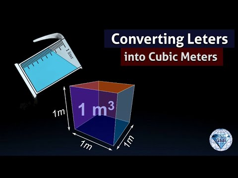 Convert Liters to cubic meters 1 L is 1000 cm cube