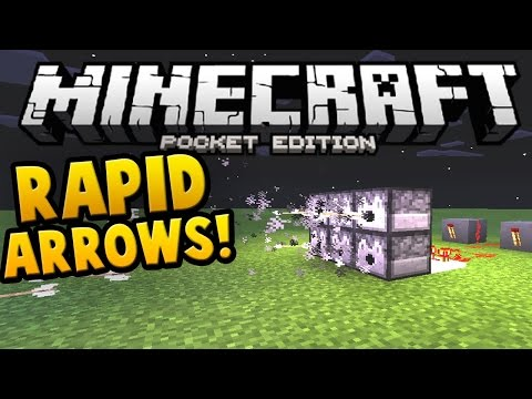 0.14.0 RAPID ARROW SHOOTER!! Redstone Dispenser Creation! | Minecraft PE (Pocket Edition)