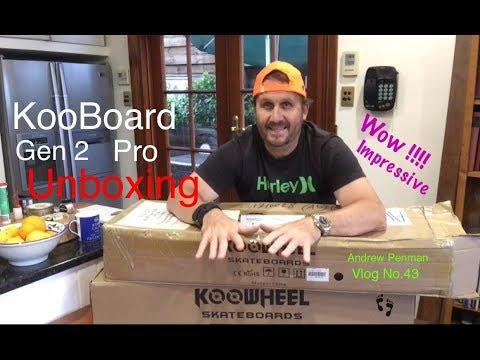 """Koowheel's new """"KooBoard Gen 2""""- Unboxing - What's New !!! -Andrew Penman YouTube Vlog No 43"""