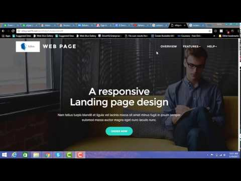 amazing html landing pages example