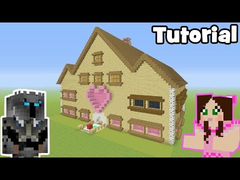 Minecraft Tutorial: How To Make GamingWithJens House!