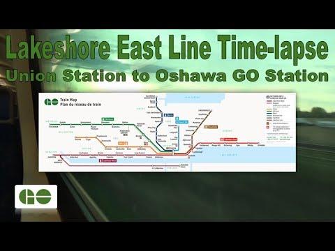 GO Transit - Lakeshore East Line Time-lapse (Union Station to Oshawa GO Station)