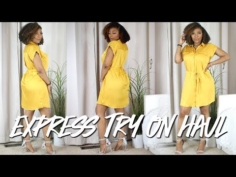 BUSINESS CASUAL EXPRESS CLOTHING TRY ON HAUL