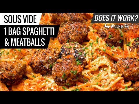 1 BAG Sous Vide SPAGHETTI and MEATBALLS - Does it WORK?