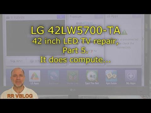 Repair of LG 42LW5700-TA LED TV, Part 5 - It does compute