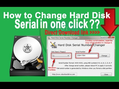 how to change hard disk serial number [ Windows XP/7/8/10] HD 2018
