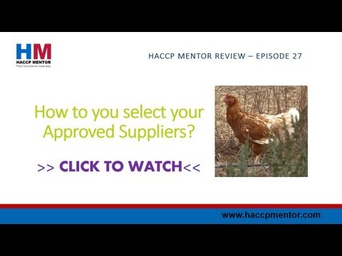 How do you select your approved suppliers?