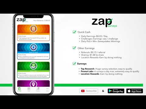 Best Ways to Earn Cash With Zap Surveys (iOS app and Android app)