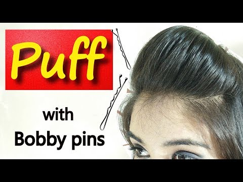 Simple Front Puff hairstyle under 2 minutes | Front Puff for Thin Hair | hairstyle with Puff
