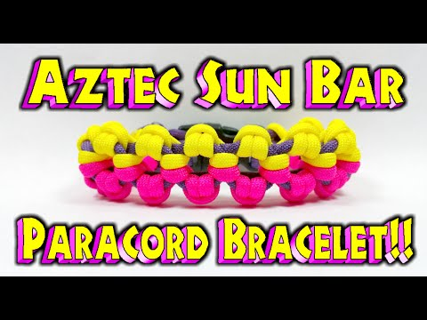 Paracord How To Make A Modified Aztec Sun Bar With Buckles