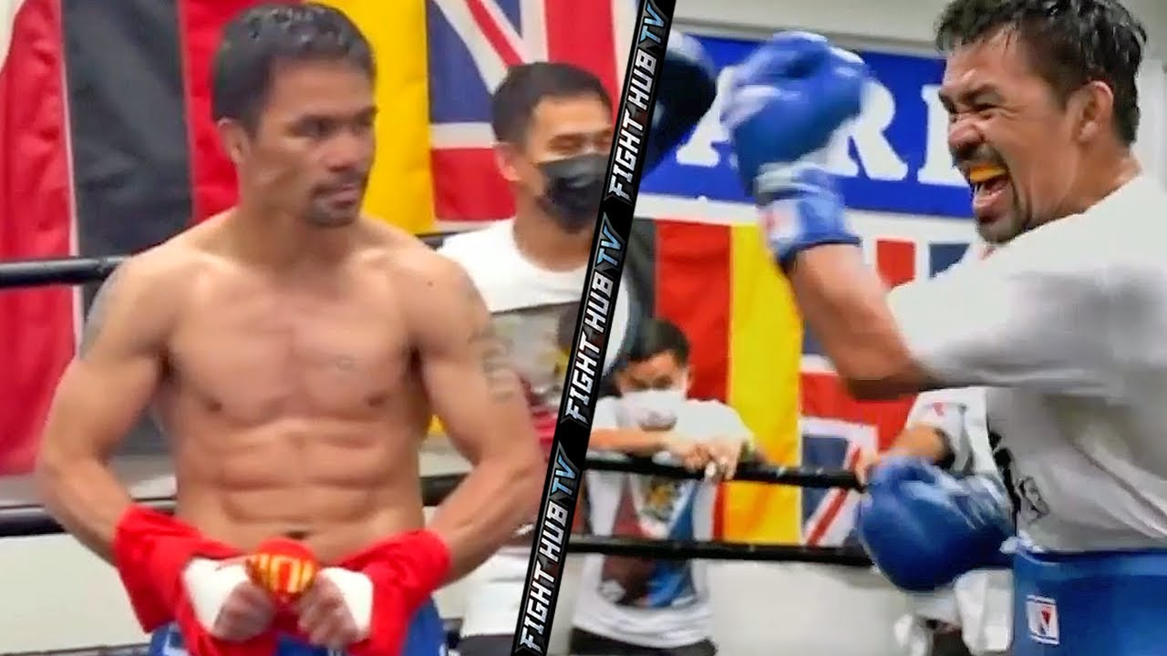 MANNY PACQUIAO SHREDDED AND ON FIRE! LIGHTING UP THE MITTS WITH UPPERCUTS FOR ERROL SPENCE JR