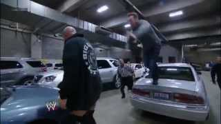 WWE Smackdown 11/16/12- Sheamus vs Big Show brawl in the parking lot