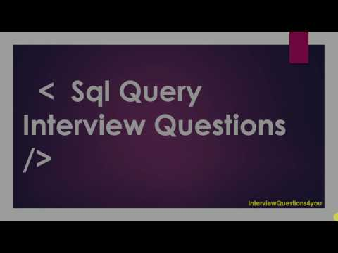 sql query interview questions (Top 10 Queries)