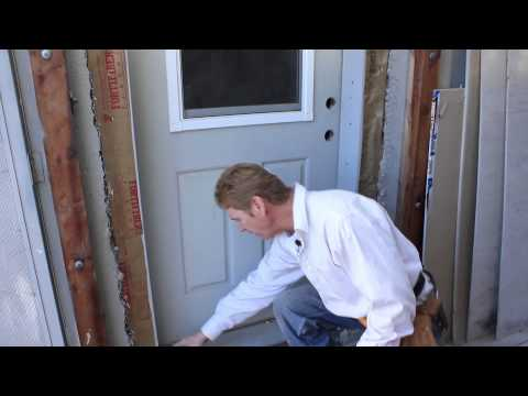 Remove & reinstall a door frame and trim quickly plus stucco lath