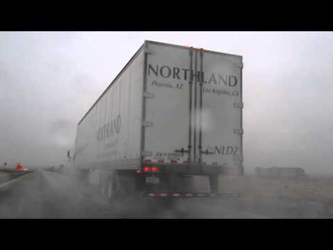Northland Trucking Truck and Trailer on Interstate 40 West of Kingman