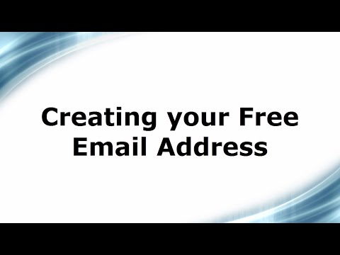 Creating your Free Email Address