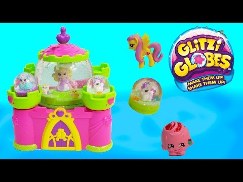Glitzi Globes Princess Castle Water Glitter Playset Pegasus Toy Happy Movies Series Cookieswirlc