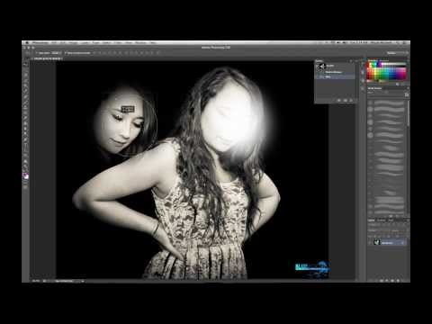 Adobe Photoshop CC - Changing/Deleting  a face, Marquee Tool, Cut out Images - Beginners Tutorial