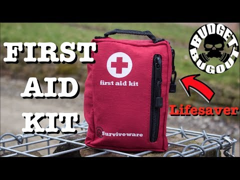 First Aid Kit -- 5 Star Rating, Affordable, Quality, & Lifesaving | Surviveware First Aid Kit Review